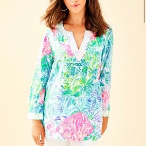Lilly Pulitzer Tops - NWT Lilly Pulitzer Renalto Sequin Tunic